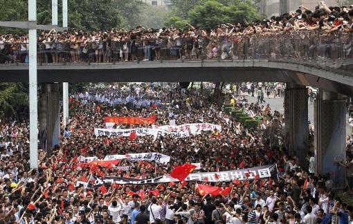 中国反日デモ