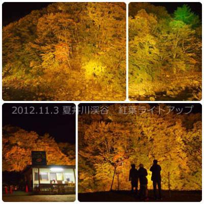 夏井川渓谷紅葉ライトアップ1