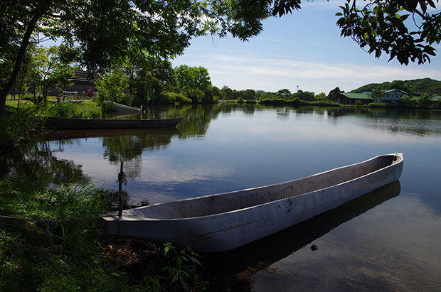 120908 白老ポロトコタンの舟