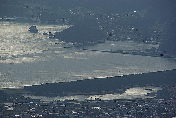 氷上山から高田松原俯瞰