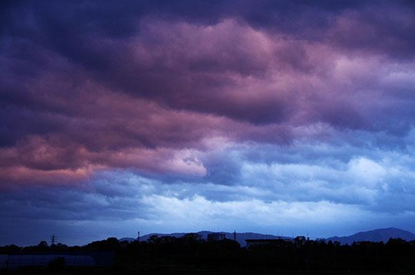 盛岡市乙部からの暗雲