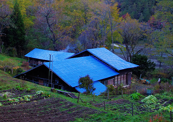 早池峰北麓の農家