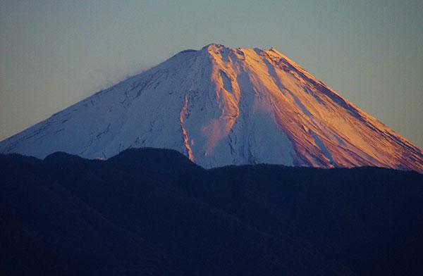 甲府市内から富士山