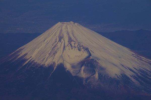 相模湾上空から富士山