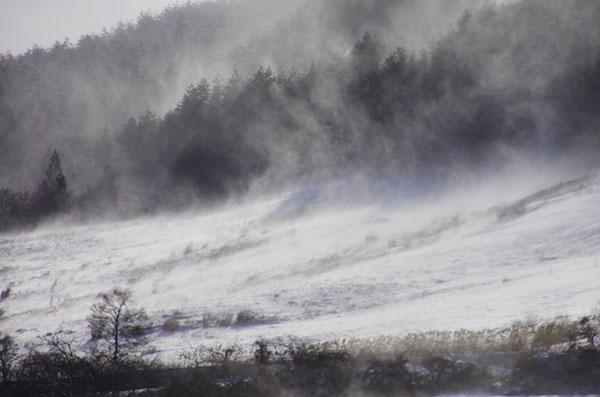 伊手の地吹雪