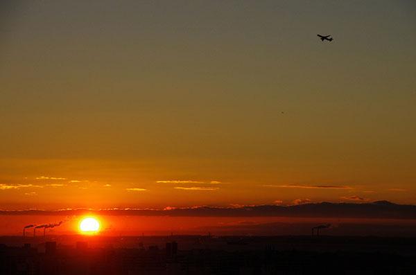 大井町から羽田空港の朝
