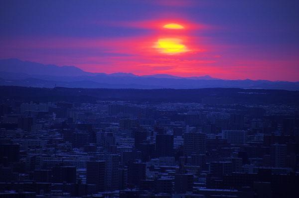 札幌市内の曙光