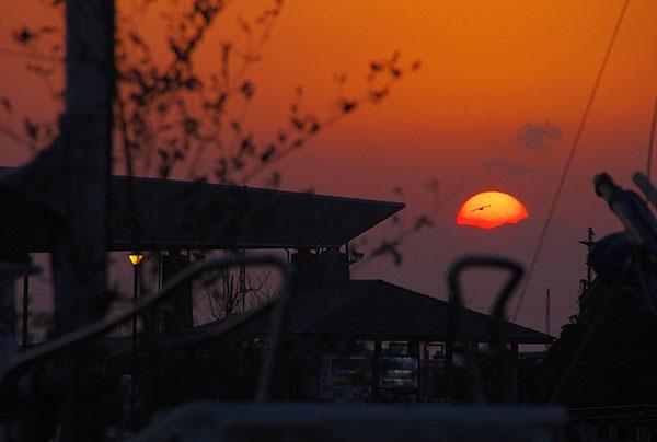 三浦半島の落日