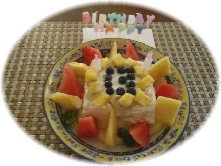 初の手作りバースデーケーキ