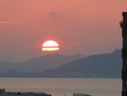 1昨日の夕陽