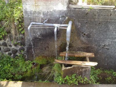三叉になった取水口