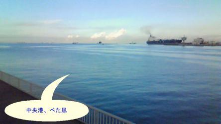 中央港はべた凪