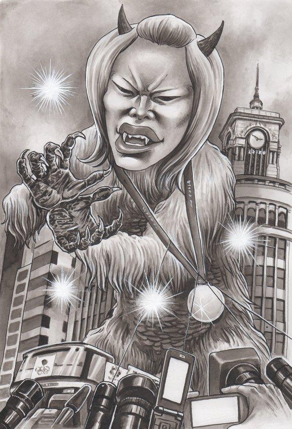 松本薫の風刺漫画