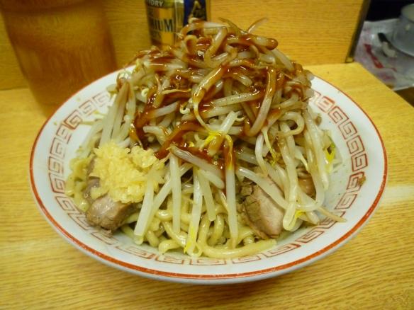 12年9月26日 新代田 汁なしTYPE-Ⅱ(チャーシュー麺) 鰹節 若鶏たまご ヤサイニンニク