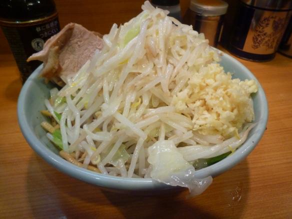 12年10月12日 野猿 醤油ドクロ 麺少な目 ニンニク