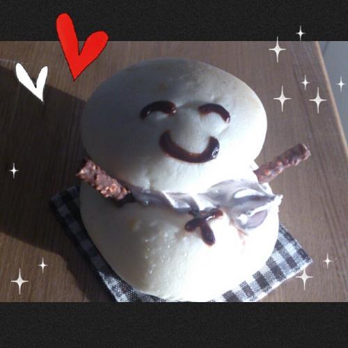 雪だるまパン