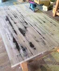 ダイニングテーブルの修繕2