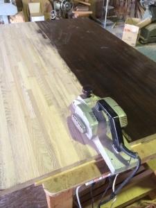 ダイニングテーブルの修繕