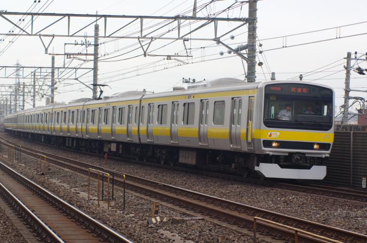 2012年6月21日 総武線 試運転 ミツ18 ひき