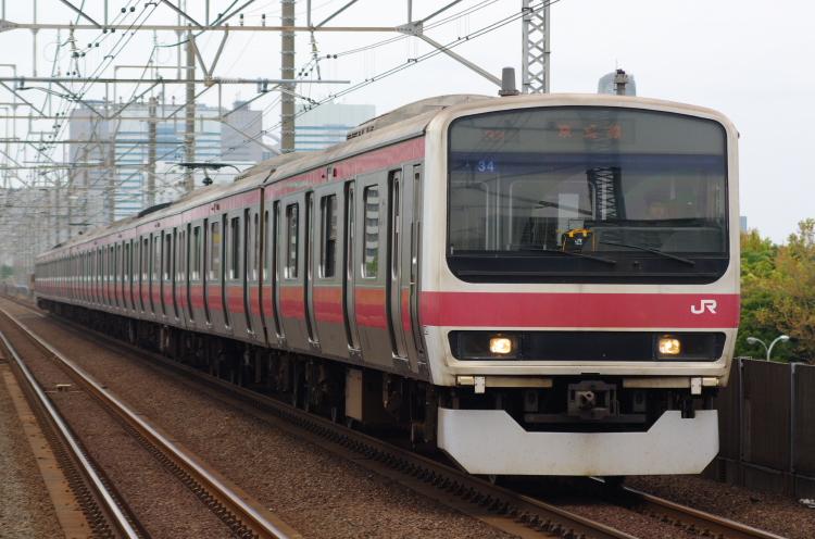 2012年7月1日 京葉線 アンパンマン ケヨ34 検見川浜