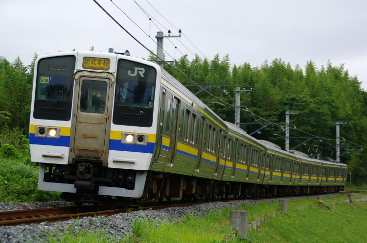 2012年7月20日 総武本線、緩行線 1352M マリ508