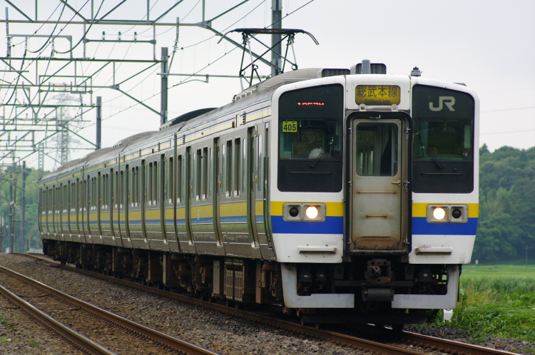 2012年7月20日 総武本線、緩行線 1357M マリ405