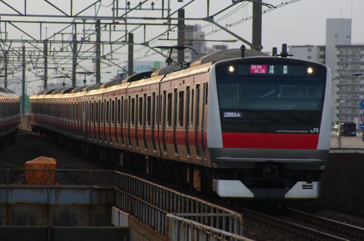 2012年7月30日 京葉線 2883A ケヨ552+F52