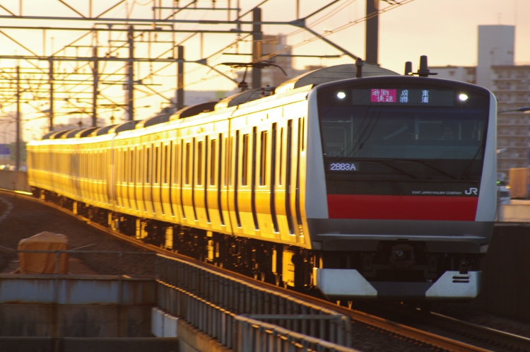 2012年7月31日 京葉線 2883A ケヨ554+F54