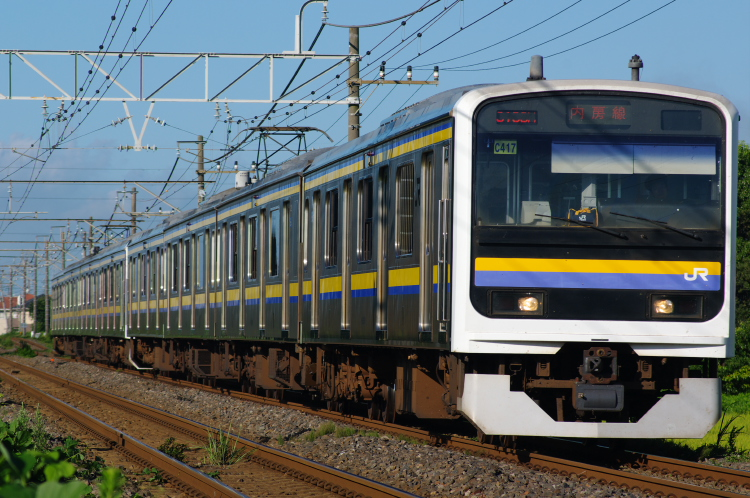 2012年8月19日 内房線 京葉線 マリC417+マリC437