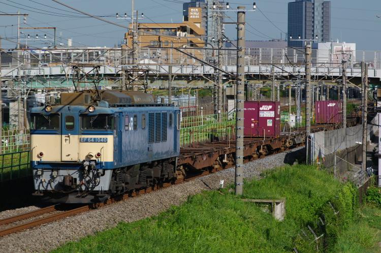 2012年8月21日 71列車 EF64-1040 津田沼-幕張本郷