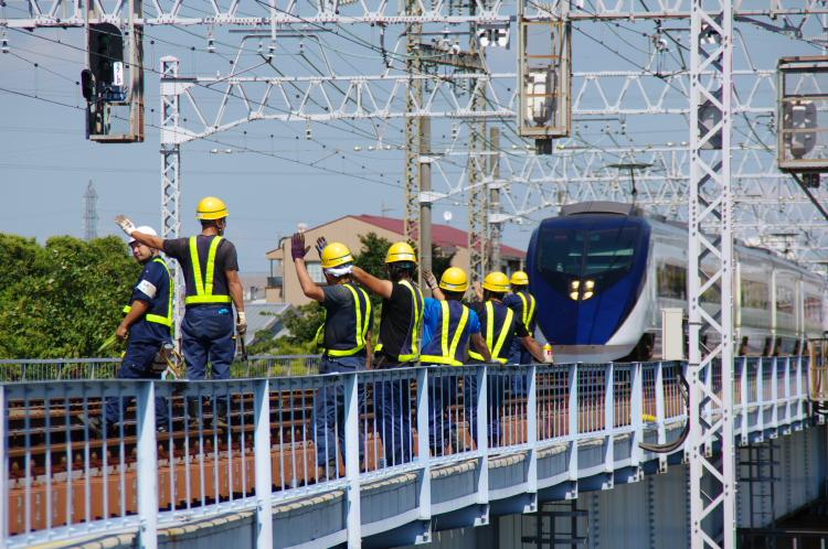 2012年8月24日 京成押上線 保線員