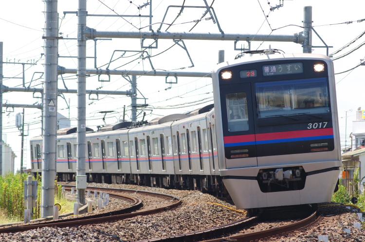 2012年8月24日 京成押上線 1017 三河大橋