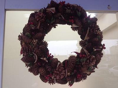 リボディ クリスマスのリース アップ
