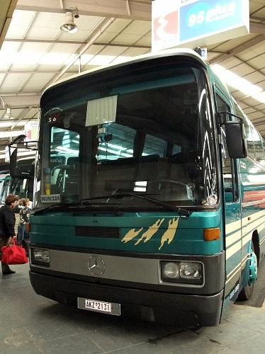 モネムヴァシア行きバス