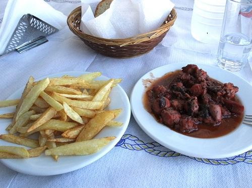 エラフォニソス_「スピロス&スピリドゥラ」昼食 (2)