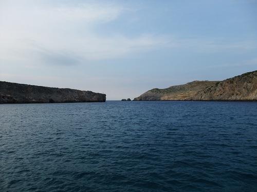 アンディキティラ_港から海を見る