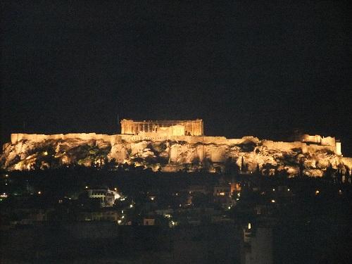 アテネ_夜のアクロポリス (2)