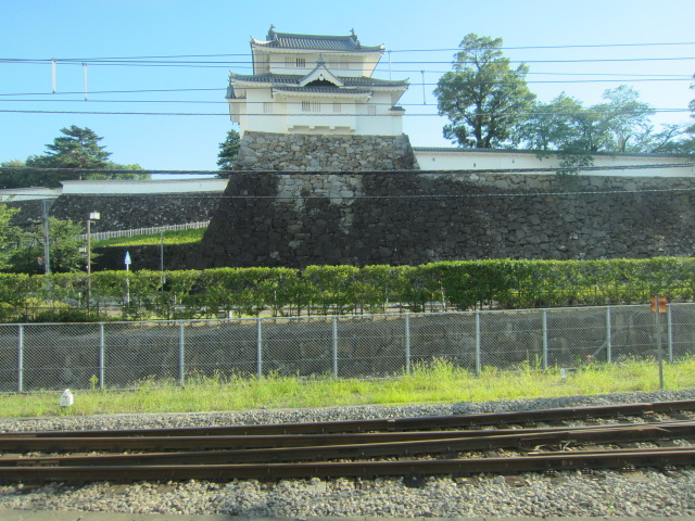 甲府城 電車から