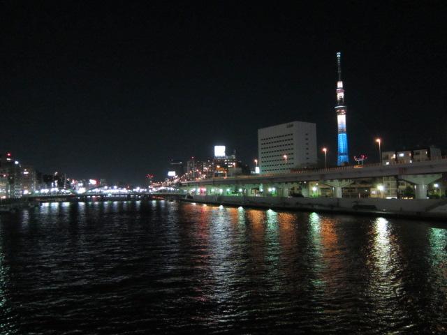 蔵前橋からの夜景
