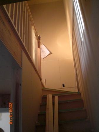 階段側手すり