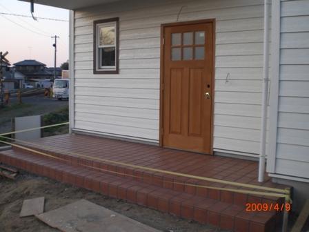 玄関タイル1