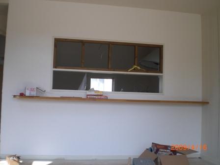 キッチン窓枠