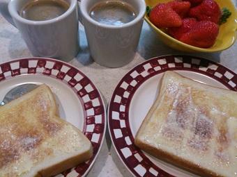 シンプルに朝食
