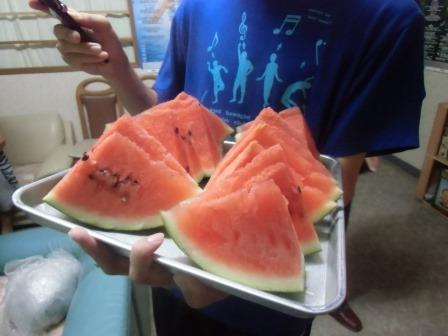 夏合宿のスイカ