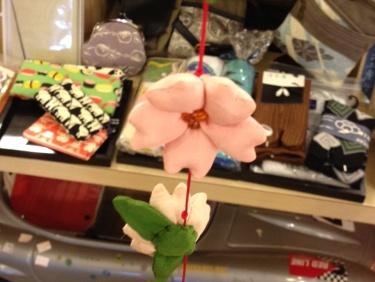 お花の吊り飾り
