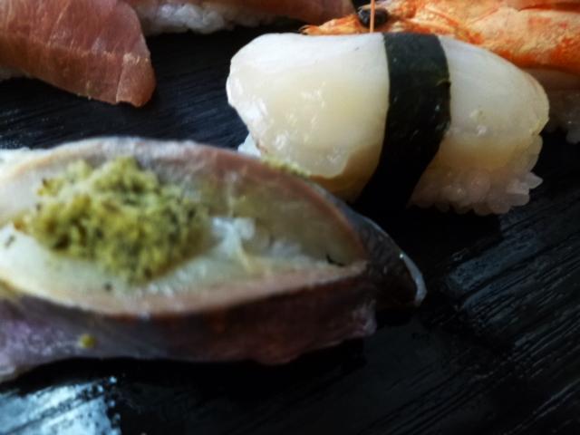 ワサビはかなりいいものかも 食べるとビックリするほど甘いんです