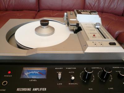 アトムレコーダーでレコード製作