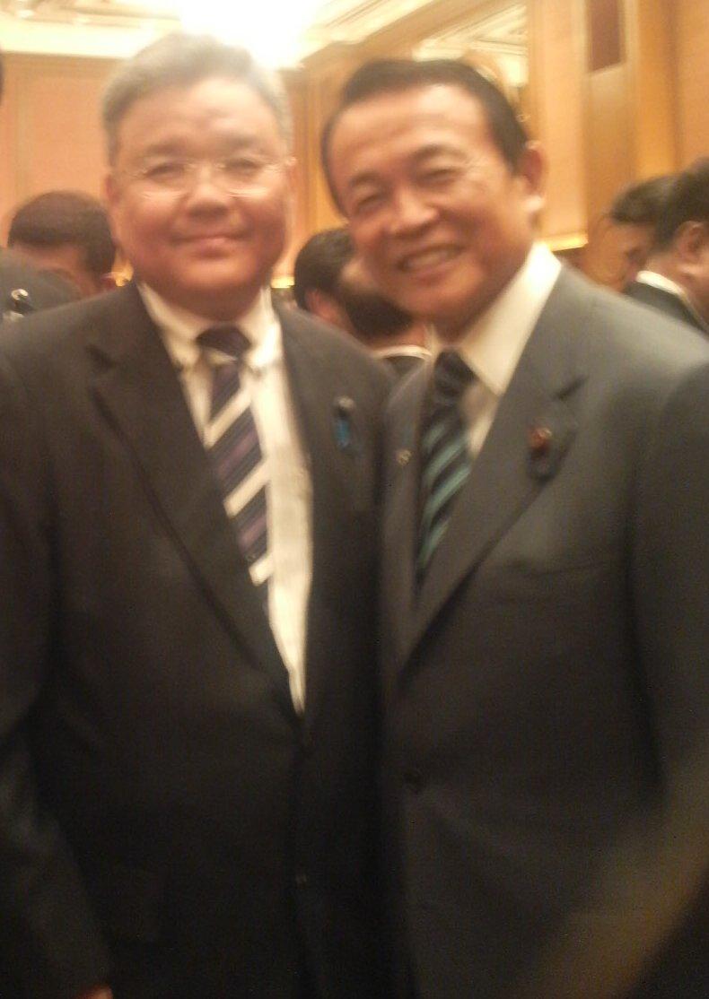 麻生太郎先生と2ショット