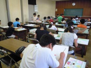 香南で美術教室