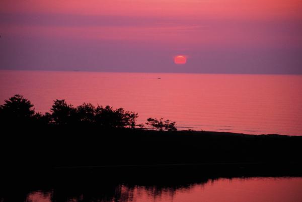 【海岸からの夕日】3 久城海岸夕日